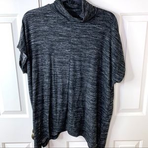 1X APT 9 CAP SLEEVE SHARKBITE TNECK SWEATER